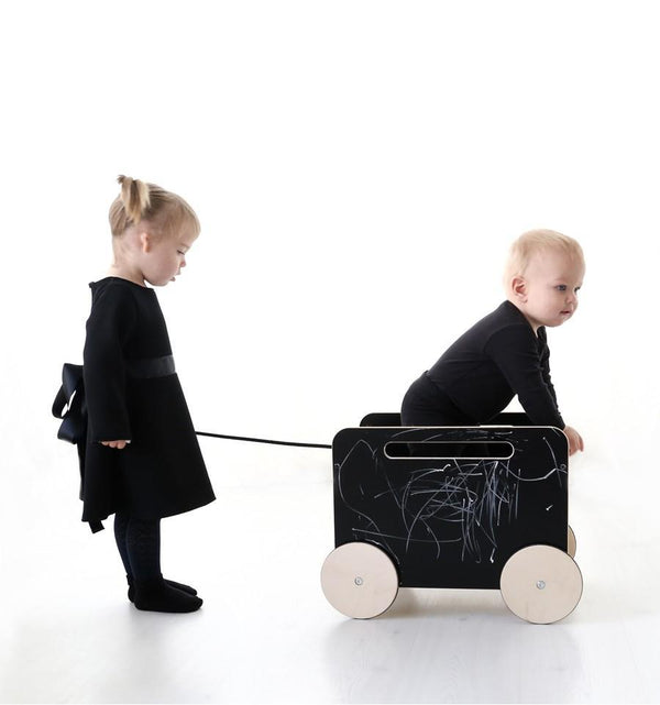 Ooh Noo Toy Chest on Wheels in Black