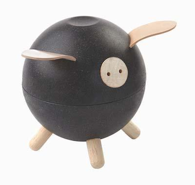 Plan Toys Piggy Bank in Black