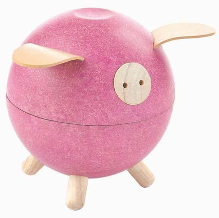 Plan Toys Piggy Bank in Pink