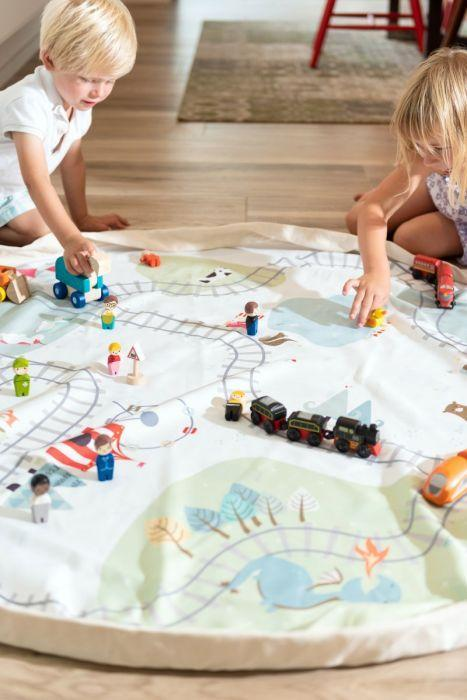 Play and Go Toy Bag - Fantasy Train Map / Bears