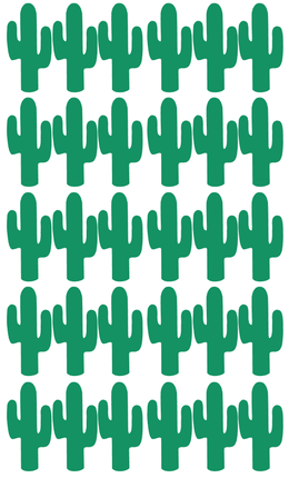 Pom Le Bon Homme Cactus wall transfers in green