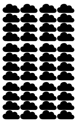 Pom Le Bon Homme Cloud wall transfers in black