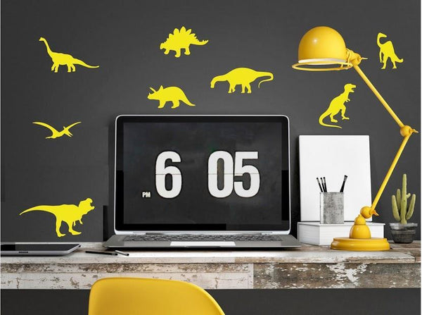 Pom Le Bon Homme Dinosaur Wall Transfers in Yellow