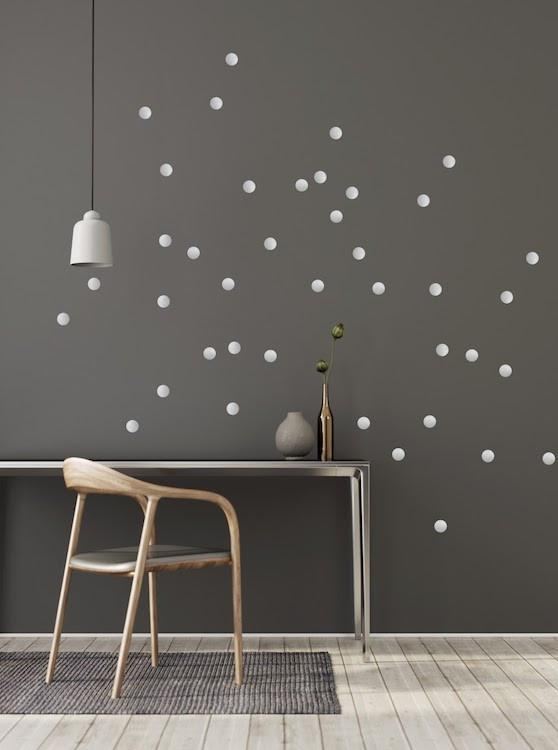 Pom Le Bon Homme Dotty wall transfers in silver
