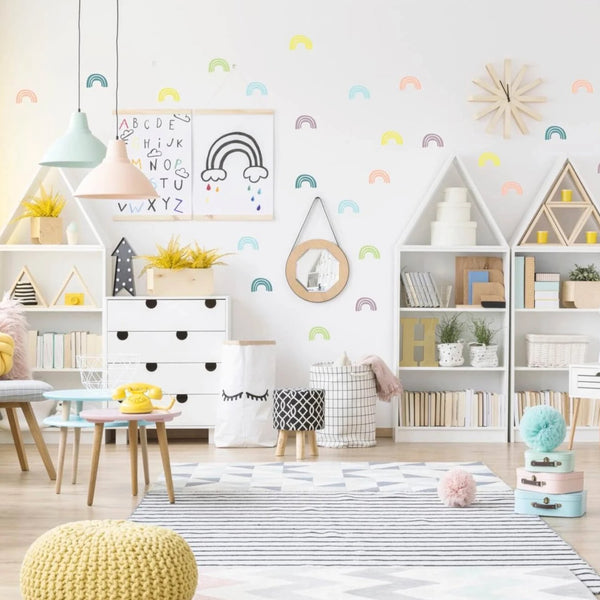 Pom Le Bon Homme Rainbow Wall Transfers in Multicolour Pastels