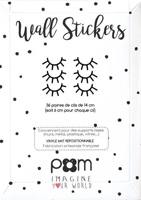 Pom Le Bon Homme Sleepy Eyes Wall Transfers in Black (Small)
