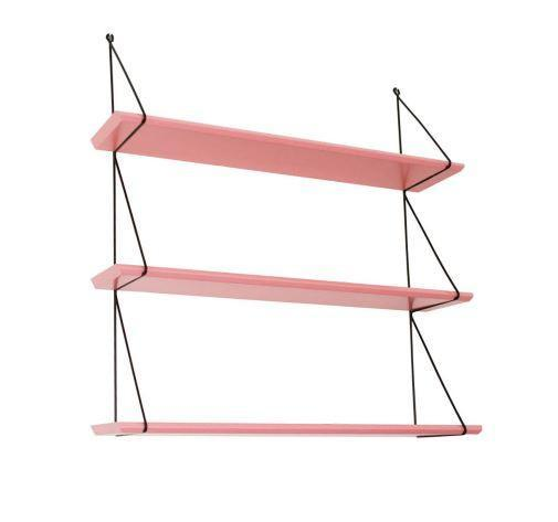 Rose in April Babou 3 Wall Shelf - Coral Pink