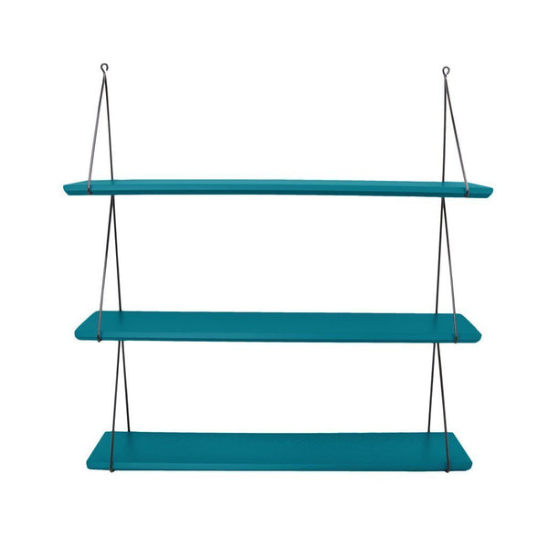 Rose in April Babou 3 Wall Shelf - Petrol Blue