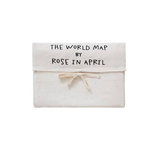 Rose In April World Map wall hanging