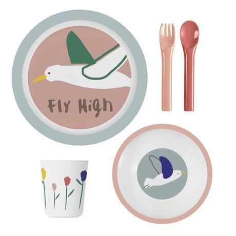 Sebra 5pc Tableware Gift Set - Singing Birds
