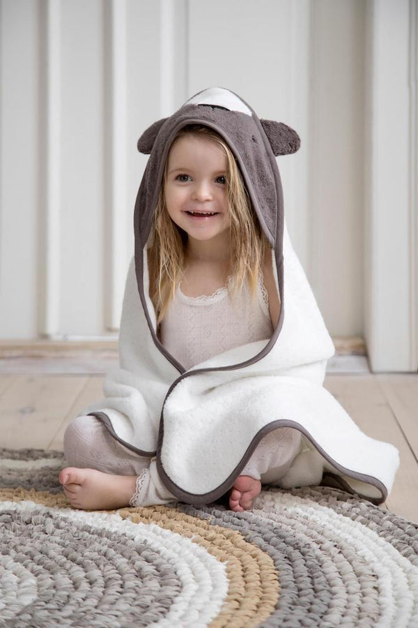 Sebra Baby Hooded Towel - Milo Bear
