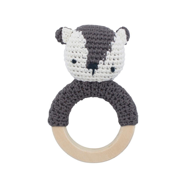 Sebra crochet rattle Milo Bear