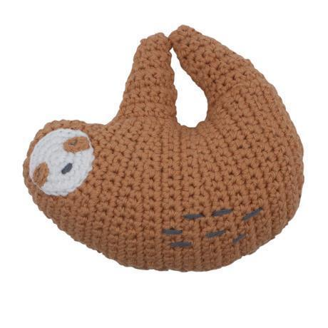 Sebra Crochet Rattle Sloth Lacey