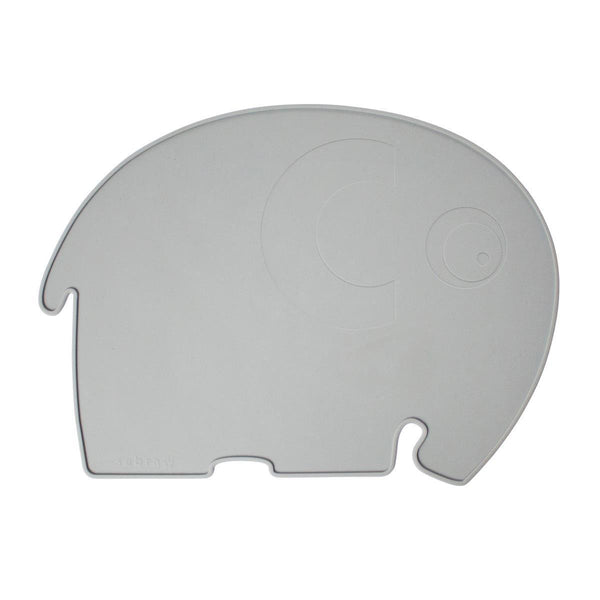 Sebra Elephant Placemat - Grey
