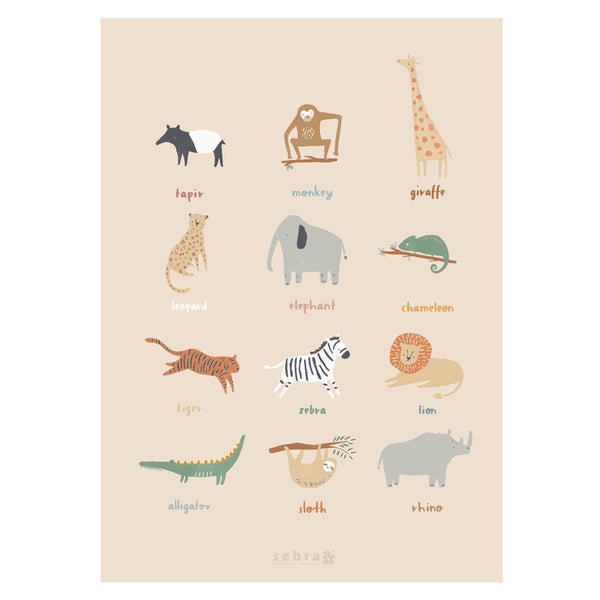 Sebra Poster Wildlife Safari