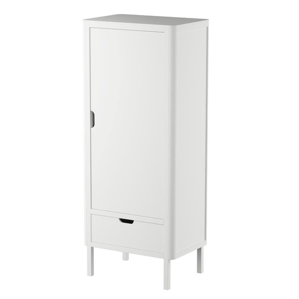 Sebra Wardrobe in Classic White (Single Door)