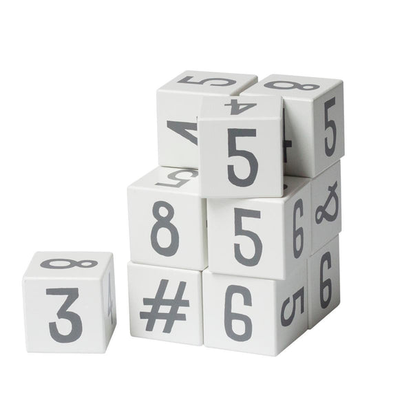 Sebra Wooden stacking blocks - Numbers/Symbols