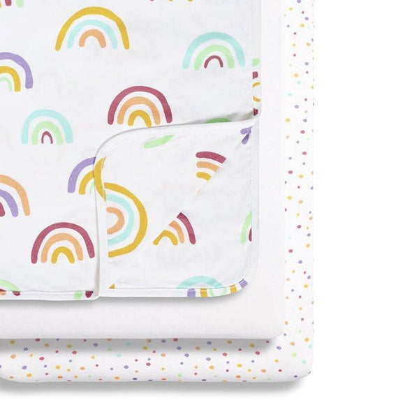 Snüz 3 Piece Crib Bedding Set in Colour Rainbow