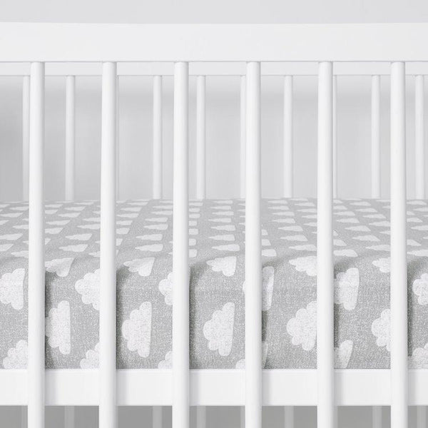 Snüz Cot and Cot Bed 2 Pack Fitted Sheet in Cloud Nine