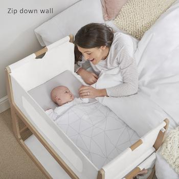 SnuzPod 3 - Bedside Crib 3 in 1 in Natural (with mattress)