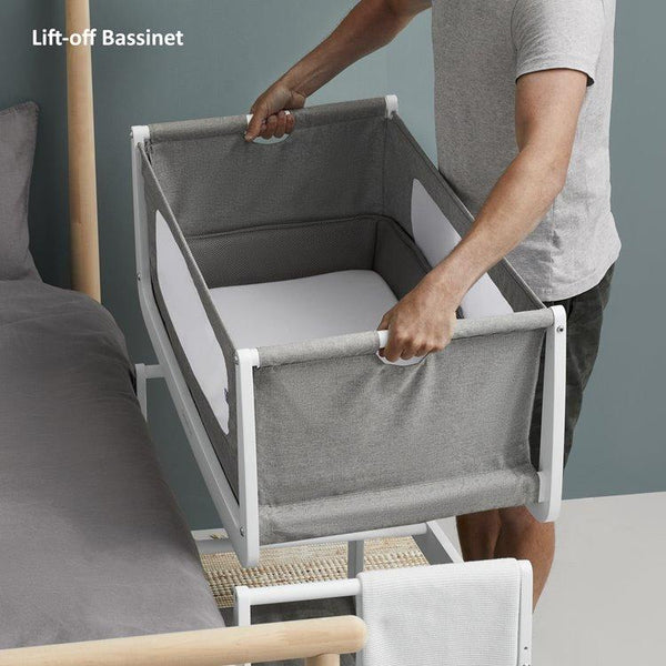 SnuzPod 4 - Bedside Crib 3 in 1 in Dusk (with mattress)