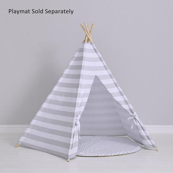 Snuzpod Kids Teepee Play Tent Grey Stripe