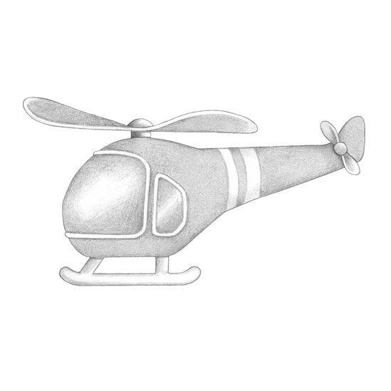 Stickstay Helicopter in Light Grey