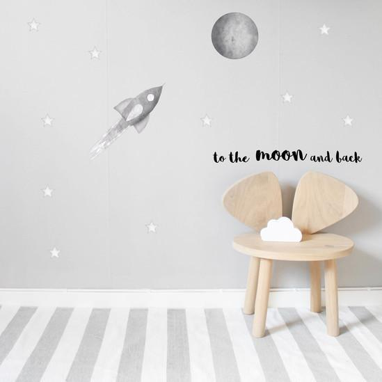 Stickstay 'To the Moon and back' wall transfer