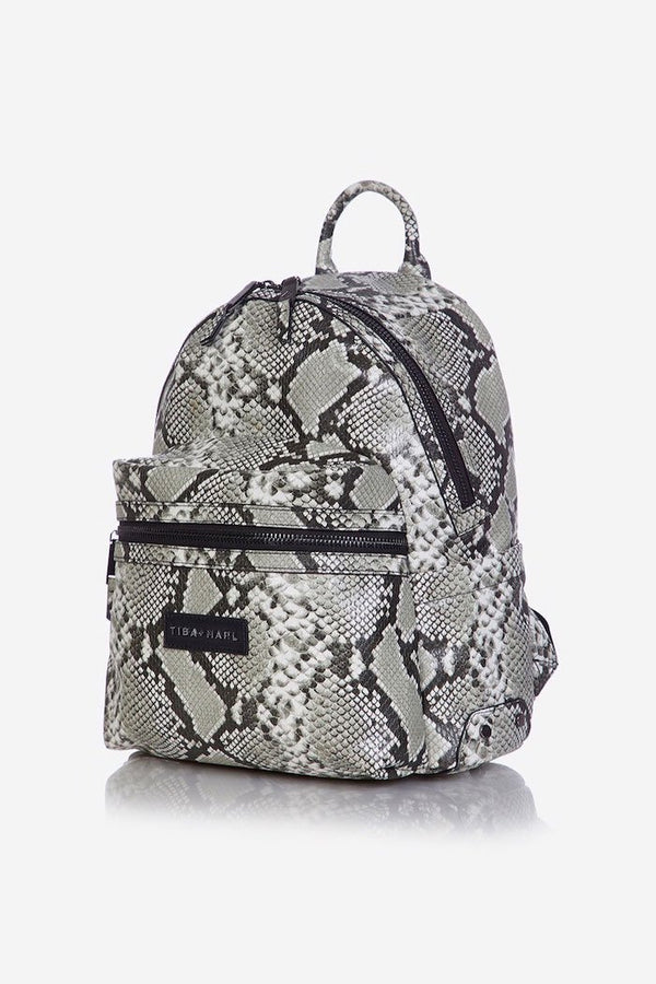 Tiba and Marl Miller Backpack in Tonal Snake Print