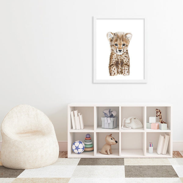 Tiny Toes Baby Cheetah Portrait