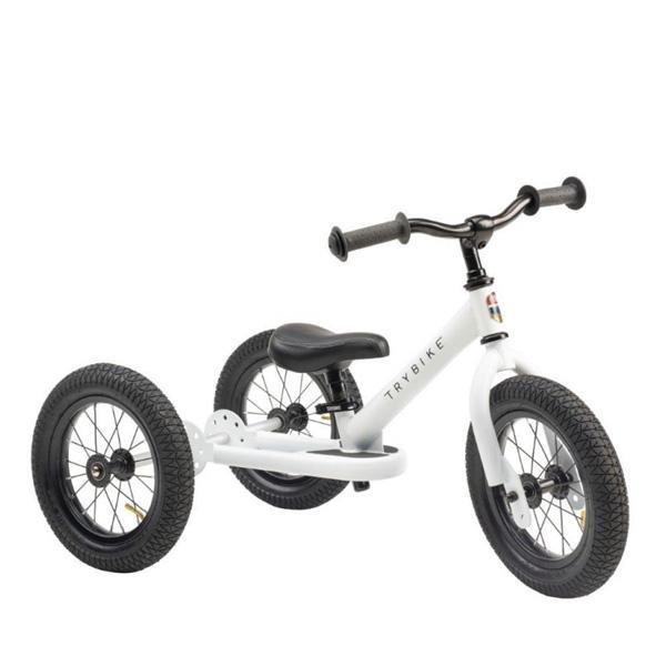 Trybike Steel 2 in 1 Balance Bike / Trike - White