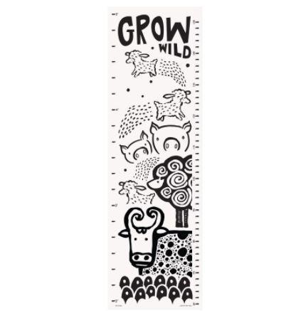 Wee Gallery Growing Wild height chart with Farmland animals
