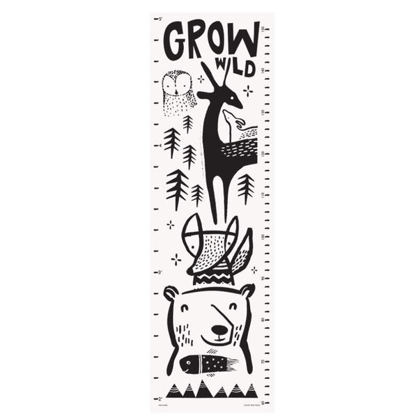 Wee Gallery Growing Wild height chart with Woodland animals