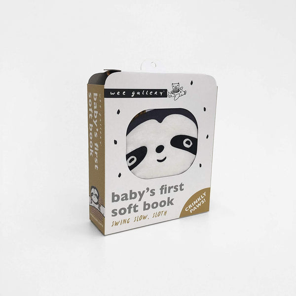 Wee Gallery Soft Book - Swing, Slow Sloth