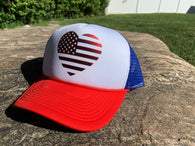 Flag Heart Trucker Hat