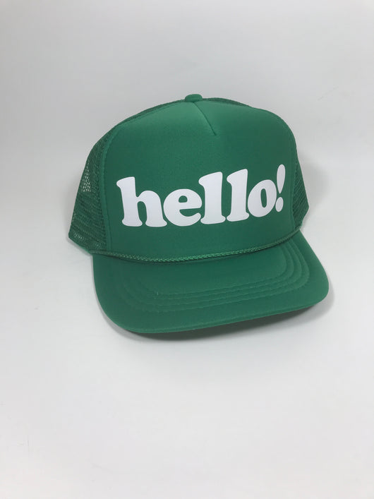 hello Youth Trucker Hat CLEARANCE