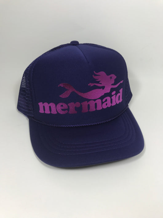 mermaid Youth Trucker Hat CLEARANCE