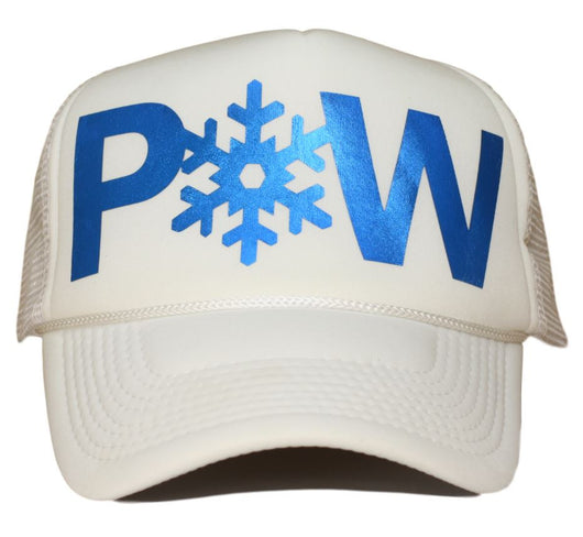 powder trucker hat