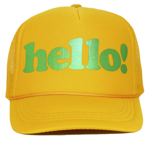 hello youth trucker hat