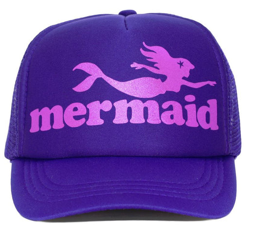 mermaid youth trucker hat
