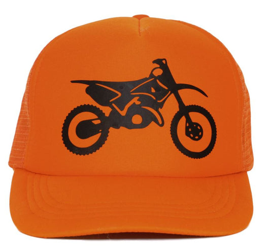 motorcycle youth trucker hat