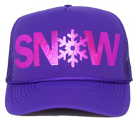 snow trucker hat