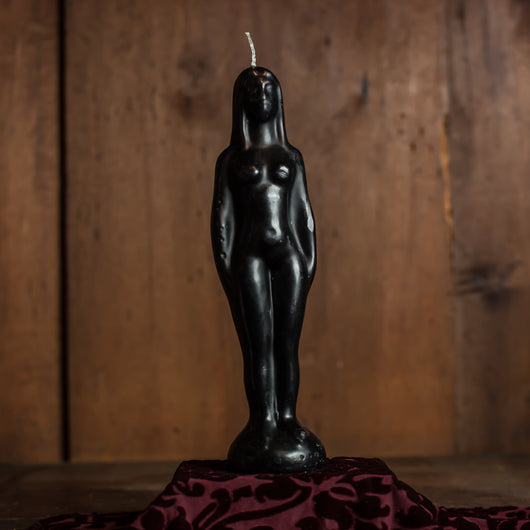 Black Figure Candle (Female)