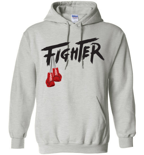 Classic Hoodie Gray - Fighter Apparel