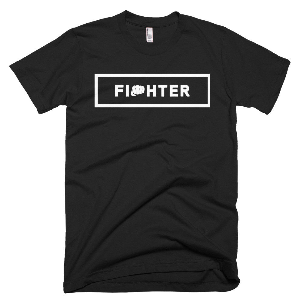 BLACK/WHITE MEN'S TEE 2 - Fighter Apparel