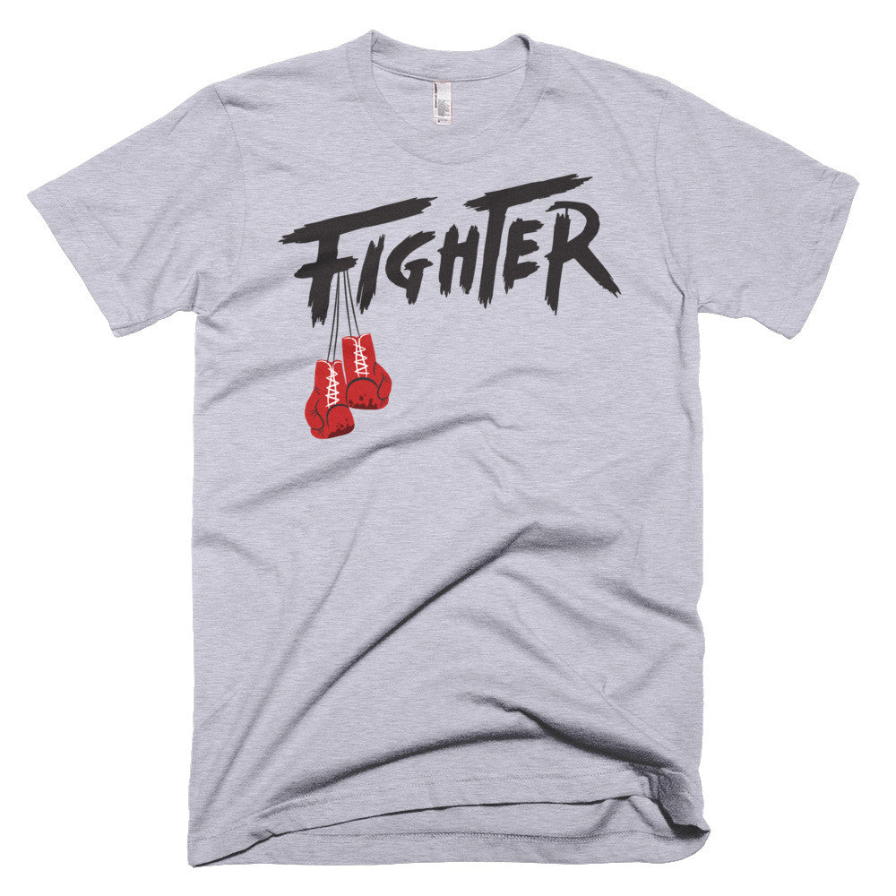 GRAY/BLACK MEN'S TEE - Fighter Apparel