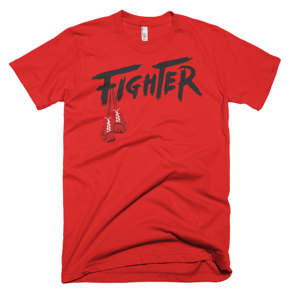 RED/BLACK MEN'S TEE - Fighter Apparel