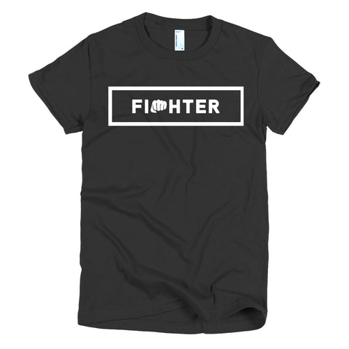 WOMEN'S TEE BLACK 2 - Fighter Apparel