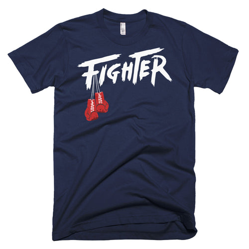 NAVY/WHITE MEN'S TEE - Fighter Apparel
