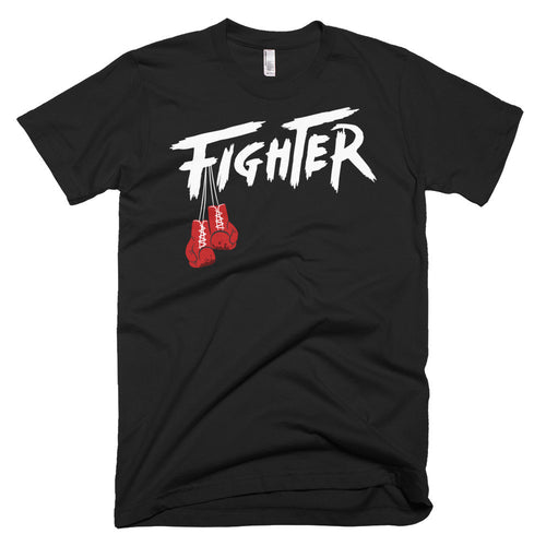 BLACK/WHITE MEN'S TEE - Fighter Apparel